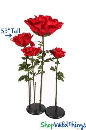 Giant Artificial Roses with Stem Standing Flowers For Events ShopWildThings