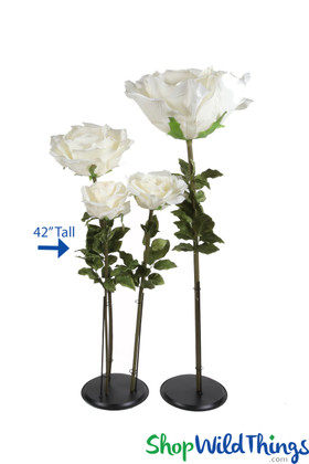Oversized Artificial Ivory Roses ShopWildThings