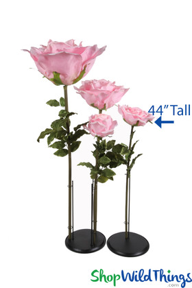 Oversized Artificial Roses Pink ShopWildThings