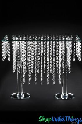 "Crystal Tiered Table ""Cameron"" Centerpiece & Dessert Riser 19 1/2"" Tall"
