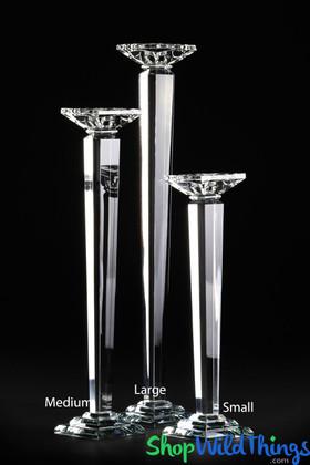 K9 Crystal Candle Holder or Floral Riser, Elegant Event Decor by ShopWildThings.com