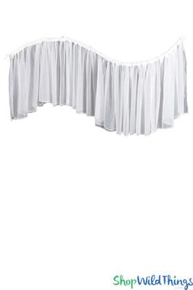 "Ceiling Drape ""Arabesque"" 2 Layer Sheer Fabric - 16' Wide x 32"" Long"