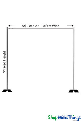Professional Pipe & Drape Backdrop Hardware Kit, Step & Repeat Adjustable Stand by ShopWildThings.com