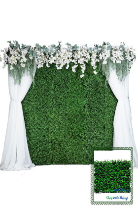 Fire Rated Boxwood Wall Kit - Faux Greenery Wall for Weddings | ShopWildThings.com