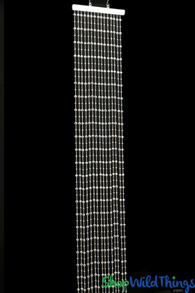 Disco Balls Small Bead Beaded Curtain - Silver - 1 ft x 6 ft