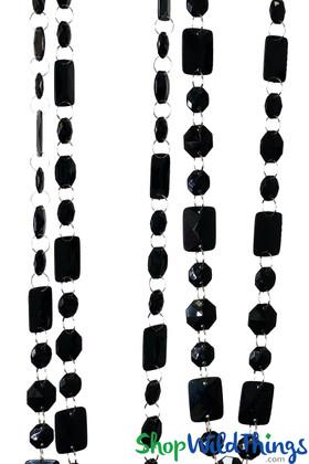 """Acrylic Garland """"Marilyn"""" Black 30 Feet Long"""
