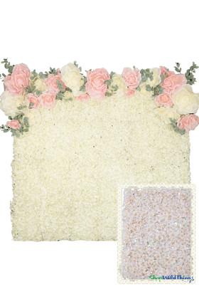 Flower Wall Kit - 8' x 8' Portable Backdrop Kit - Blush Pink Cherry Blossoms