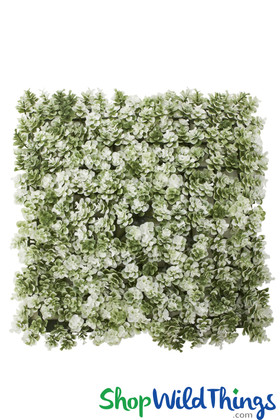 Greenery Wall Landscape Panels Green with White Wildflowers Backdrops