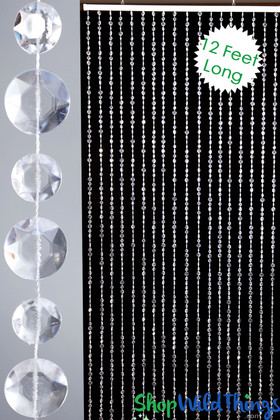 Extra Long Large Diamonds Beaded Curtain Backdrop Drape for Stages ShopWildThings