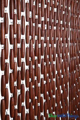 Dark Brown Beaded Curtain Heavy Large Bead Room Dividers ShopWildThings.com