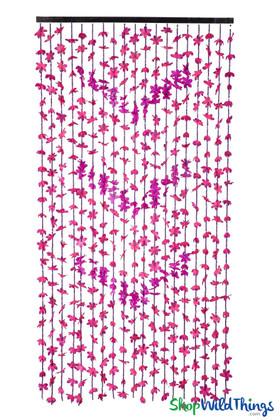 """FabuLush Fabric Flowers"" Curtain - 2-Tone Purple - 35"" x 69"""
