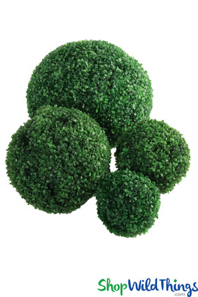 """10"""" Faux Boxwood Topiary Balls Greenery Decoration for Planters in Entryway"""