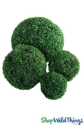 "Topiary 13"" Boxwood Ball Artificial Greenery Balls ShopWildThings.com"