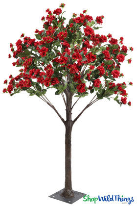 Red Roses Artificial Tree Real Touch Flowers Highest Quality ShopWildThings.com