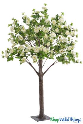 Flowering Rose Tree  5' Tall  Cream
