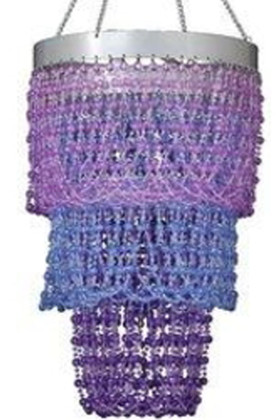 """Chandelier """"Mini Pop"""" Purple, Violet & Blue"""