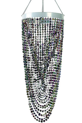 Chandelier Diana - Diamond Twist - Black Iridescent