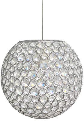 "Chandelier Crystal Beaded Jeweled Sphere w/Light Kit - 10"""