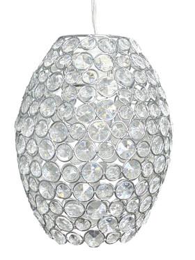 "Chandelier ""Elliptical"" Crystal Pendant Light 10""L x 7.5""W"
