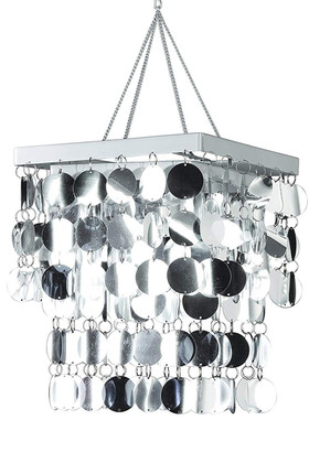 "Chandelier ""Silver Diva"" 12"" Square (Fireproof PVC)"