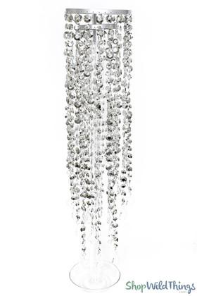 """Centerpiece KIT Diamante Duo Silver 30"""" Tall"""