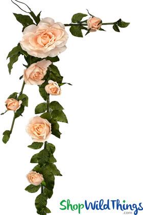 Large Silk Rose Garland | Artificial Blush Pink Wedding Flowers | Hang or Tabletop | ShopWildThings.com