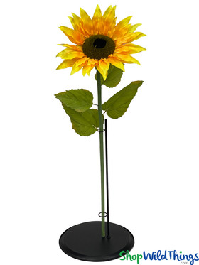 """Artificial Large Sunflower Yellow 40"""" Tall"""