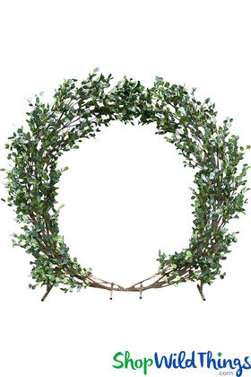 Green Leaves Wedding Backdrop Arch Circle ShopWildThings