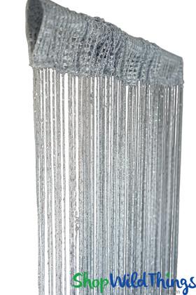 String Curtain - Silver Gray w/Metallic Thread - 3' x 6.5'