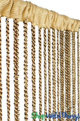 Multi Brown Braided Curtain with Metallic Flecks for Walls, Doors and Windows,  7' Long Decorative Curtain by ShopWildThings.com