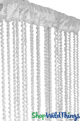 "String Curtain  - White Braided w/Metallic Flecks 40"" x 6.5'"