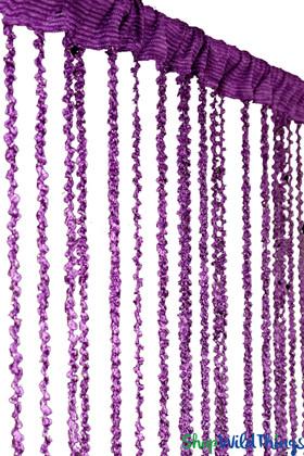 "String Curtain  - Dark Purple Braided w/Metallic Flecks 38"" x 6' 8"""