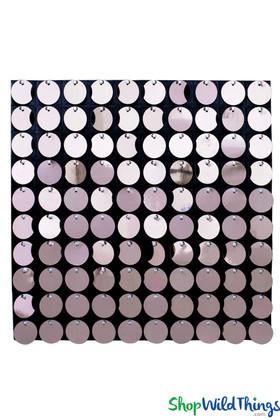 "Shimmer Sequin Wall Backdrop Panel 12""x12"" - Metallic Pink"