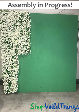 Free Flower Wall Backdrop - Instructions & Video