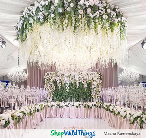 Aerial Awesomeness: Chandeliers & Hanging Florals