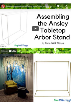 """VIDEO: How To Assemble Tabletop Arbor """"Ansley"""""""