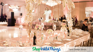 Romantic Reception With Blush & Bountiful Bling