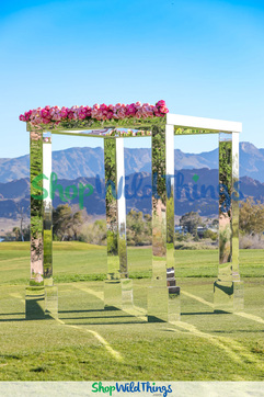 Jaw-Dropping Mirror Mandap, Gazebo & Wedding Arch