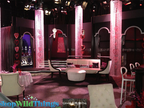 General Hospital Set Decor|Square Crystal Columns
