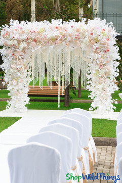 Create a Wedding Arch with Chandeliers & Flowers