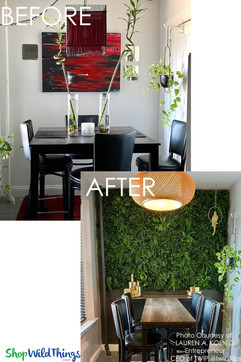 Kitchen Remodel with Greenery Walls