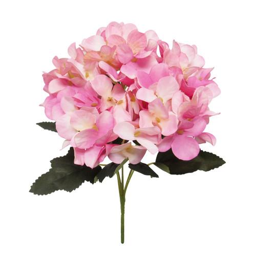 Pink Faux Hydrangea Bloom Flowers - ShopWildThings.com