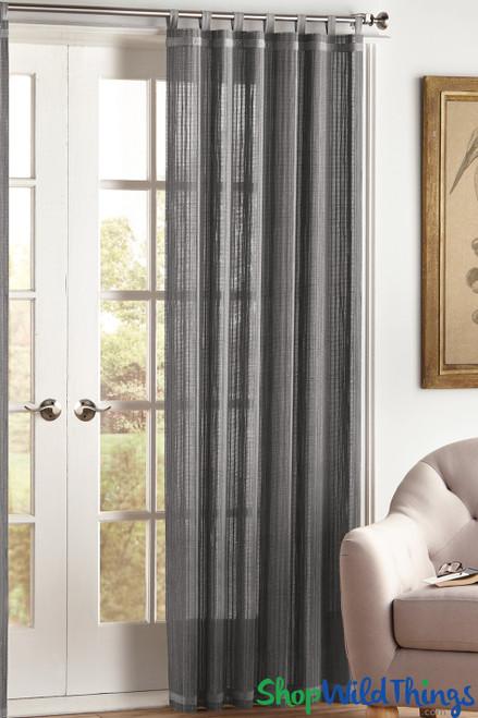 Gray Bamboo Curtain - ShopWildThings.com