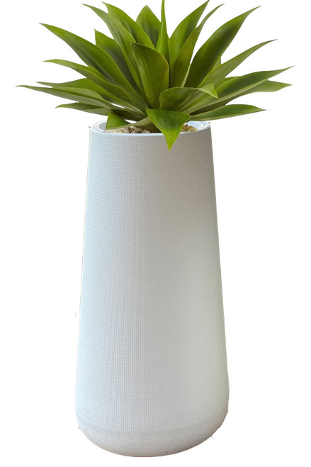 White Tall Indoor Outdoor Plastic Planter Lightweight Tall White Vase ShopWildThings