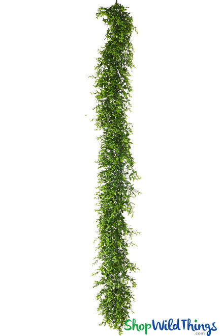 Full and flexible boxwood garlands, 5ft artificial vines for backdrop arches, floral risers and arbors | ShopWildThings.com