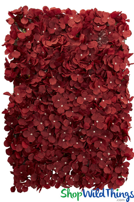 Red Plumeria Flower Wall Panel Backdrop Silk Florals ShopWildThings.com