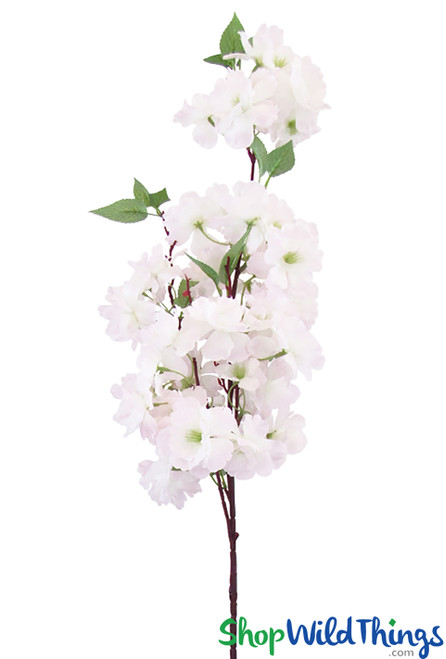 """Realistic Silk Sprays, Extra Full Triple Bloom, 40"""" Light Pink Bendable Cherry Blossom Branches by ShopWildThings.com"""