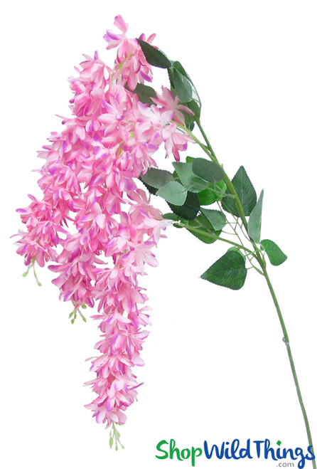 """Triple Stem Draping Flower Spray, 40"""" Triple Stem Bright Pink Fuchsia, Long Stem Silk Flowers for Centerpieces, Arches & Arbors by ShopWildThings.com"""