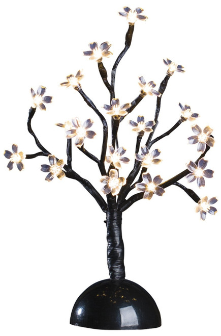 """20 Light Warm White Battery Operated 12"""" LED Blossom Tree"""