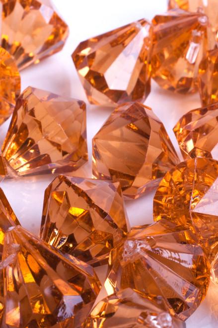 """Bryn""  Crystal Acrylic Pendants - Amber - Bag of 100 pcs"